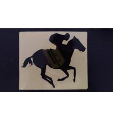 Samolepa - dostihový kůň